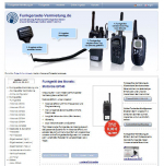 Screenshot of Radio-Rental.com website – rent Motorola two-way radios at reasonable prices