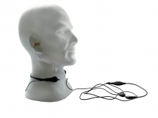 Headset with throat mic for Motorola two-way radios
