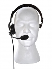 Motorola overhead boom headset, medium, by Radio-Rental.com